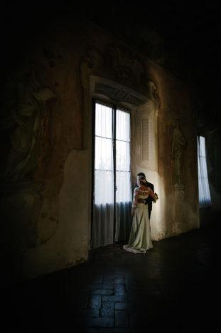 Salone con affreschi