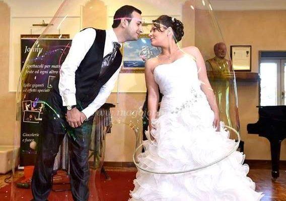 Sposi dentro la bolla 1