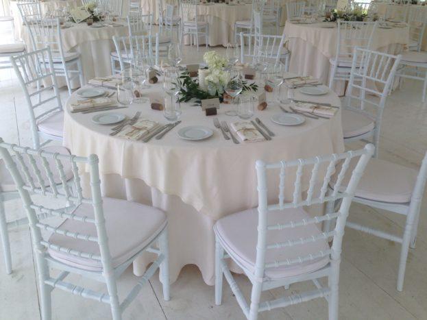 Noemi Wedding set up cena