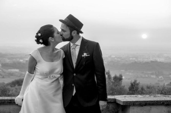 Foto di coppia sul belvedere