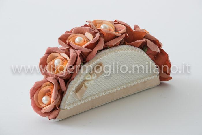 bouquet rose velluto e perla