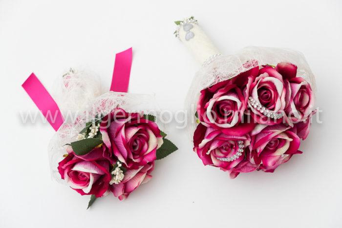 bouquet rose velluto fucsia