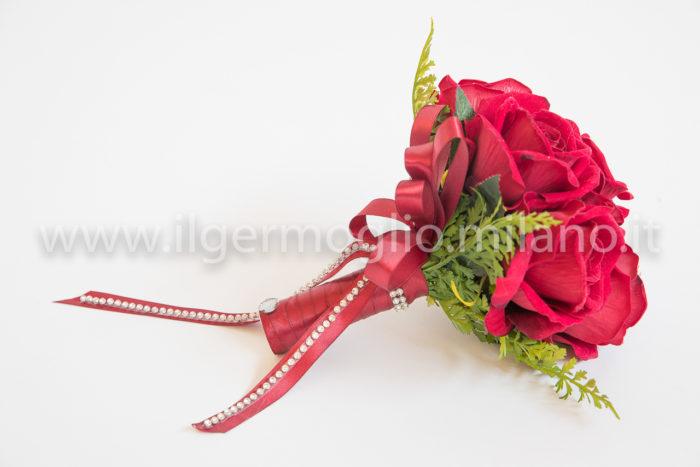 bouquet rose velluto rosse e b