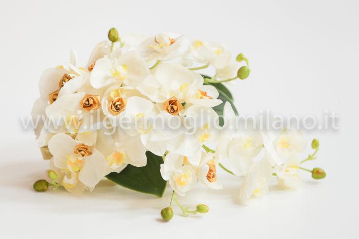 bouquet cascante orchidea