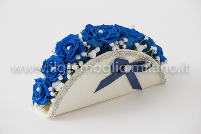 bouquet rose blu stabilizzate