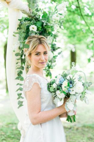 Bouquet boho azzurro