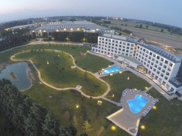 Veduta aerea parco Hotel