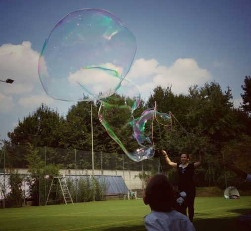 interazione con bolle