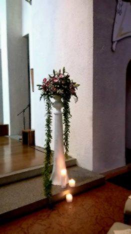 Vaso con composizione fiori