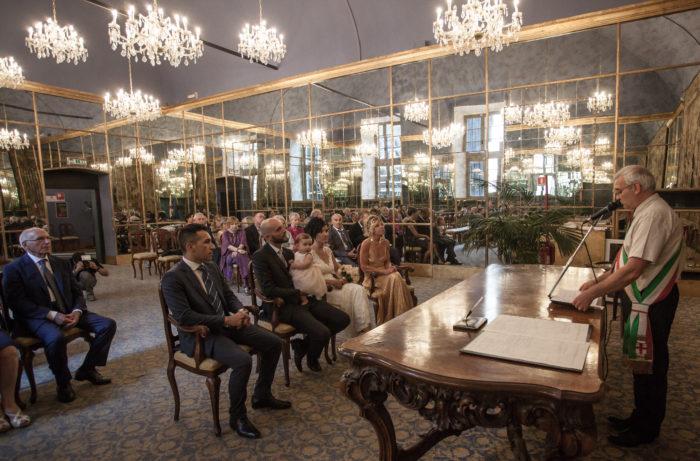 Cerimonia a Palazzo Reale (MI)