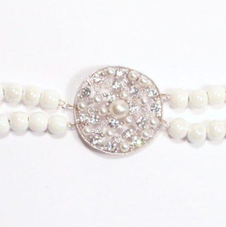 Bracciale doppio filo perle