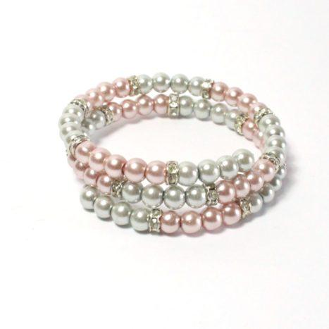Bracciale armonico grigio rosa