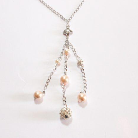 Saliscendi con perle e strass