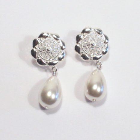 Orecchini con perle a goccia