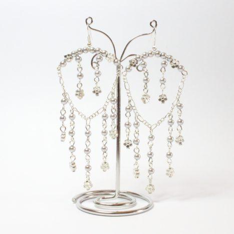 Chandelier perle grigie