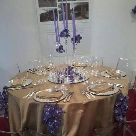 tavola  per matrimonio chic