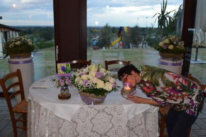il tavolo degli sposi in lilla