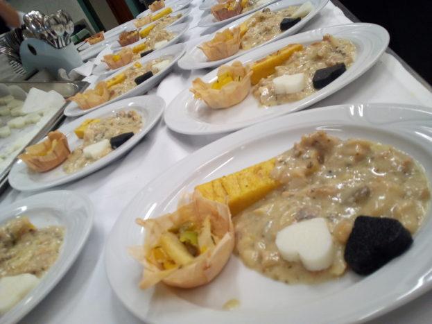 Tris di polenta e Baccalà
