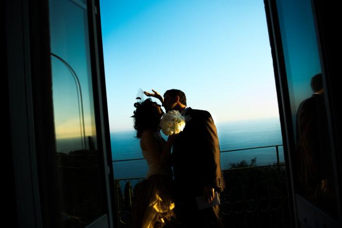 Sposi al tramonto - Genova