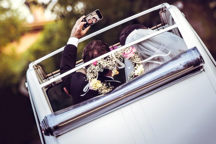 i selfie in macchina