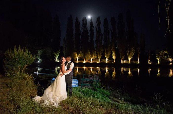 sposi sul lago