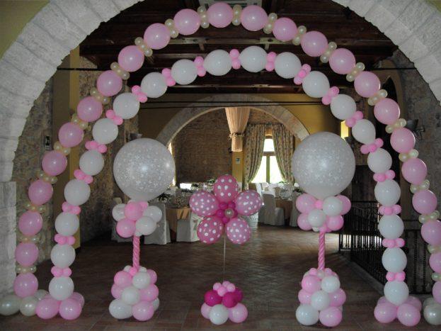 scenografia con palloncini