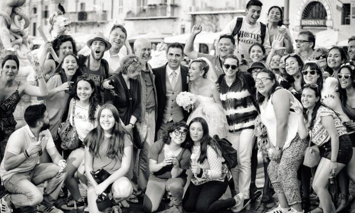 a piazza navona, con i turisti
