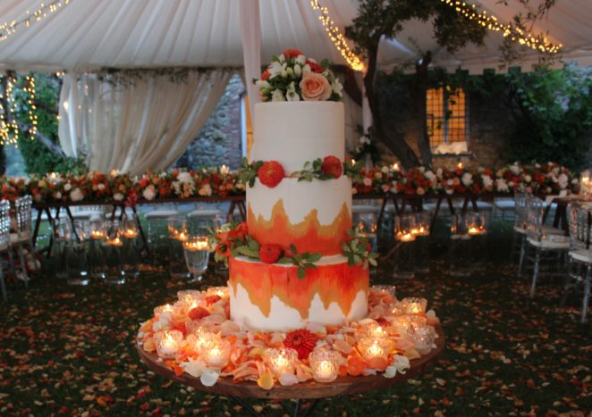 Wedding paint cake