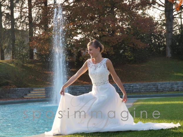 abito da sposa in pizzo bg