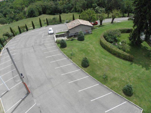 Parcheggio vista dall'alto