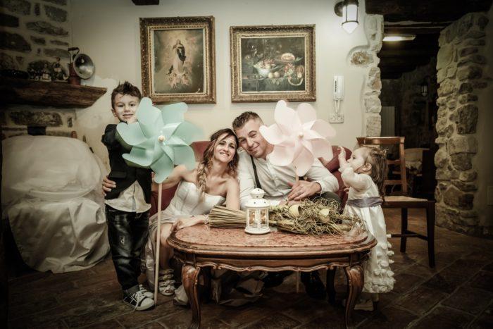 sposi con bimbi