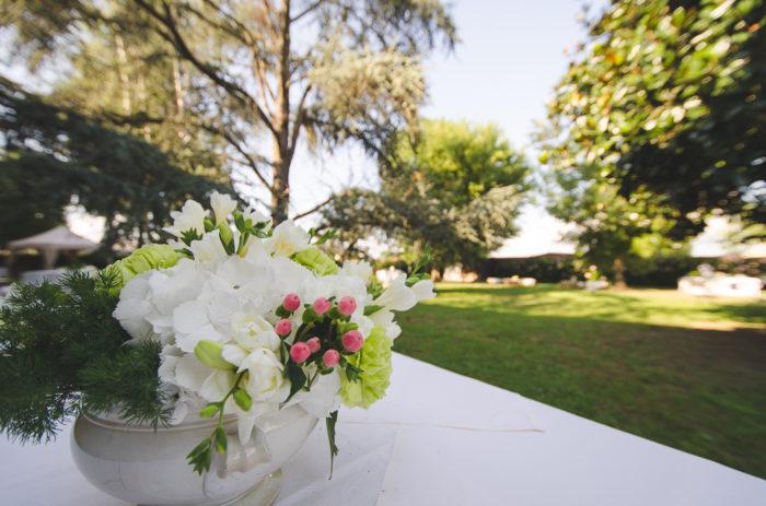 Allestimento fiori buffet