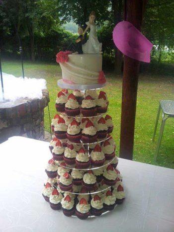 Torre di cupcakes