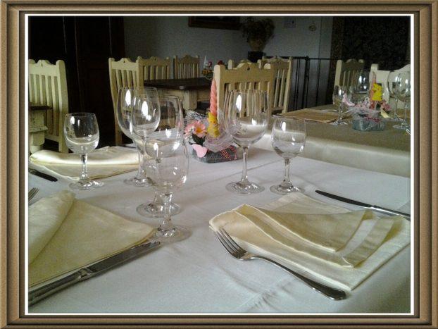 Particolare dei tavoli