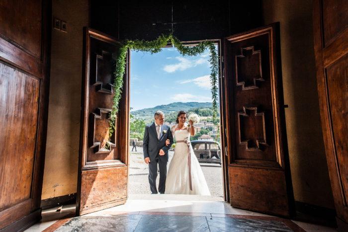 Matrimonio arrivo