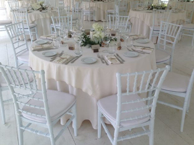 Noemi Wedding set up cena