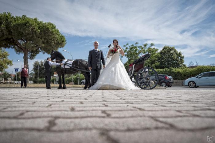 L'arrivo in chiesa della sposa