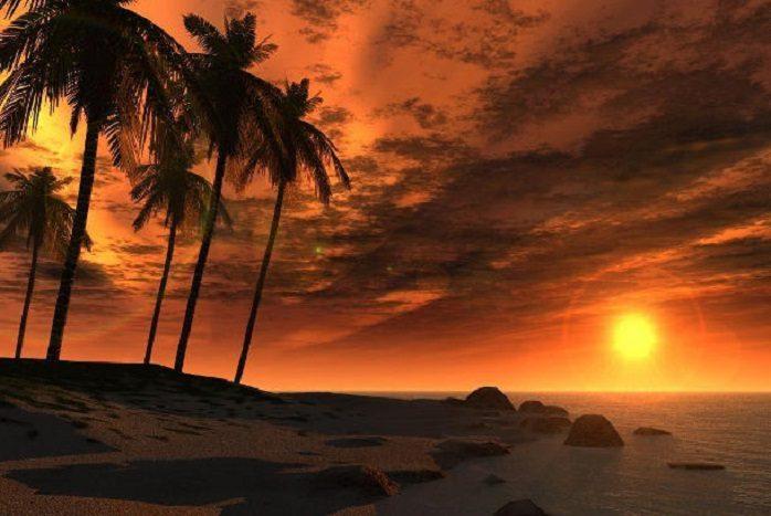 Sunset in Giamaica
