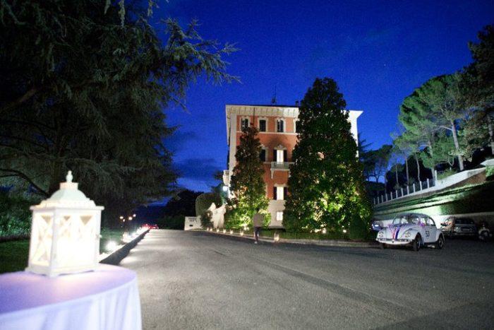 Villa Pandolfa di notte