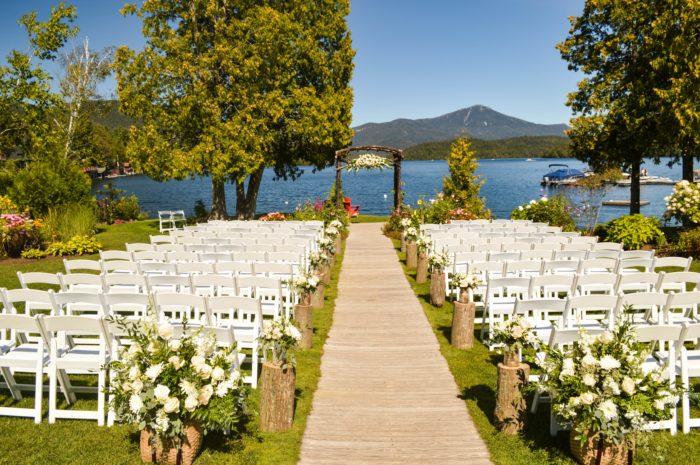 Matrimonio in riva al lago