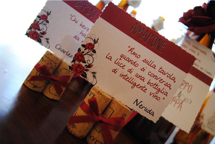 Segnatavolo Wine & Roses