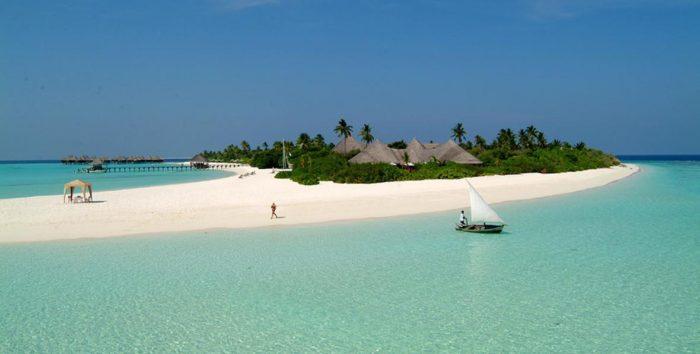 Maldives spiaggia
