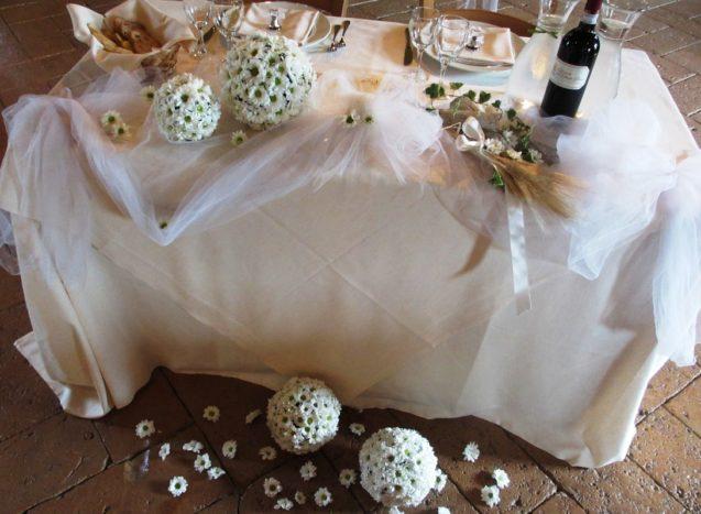 tavolo sposi shabby