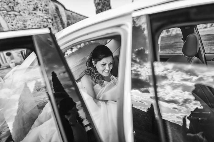 reportage l'arrivo della sposa