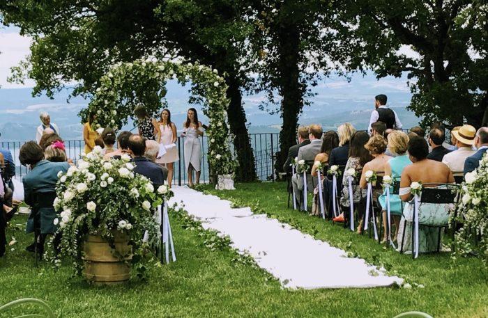 Cerimonia vista lago