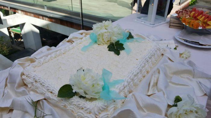 servizio torta in terrazza