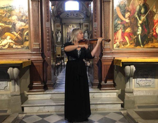 Violinista ad Arezzo
