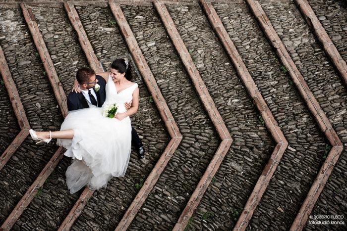 pattern con gli sposi
