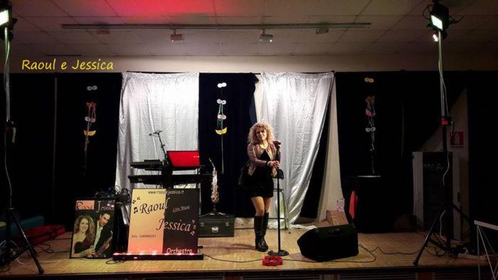 jessica sul palco