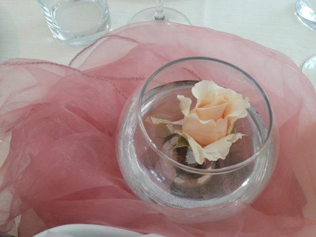 centrotavola rosa